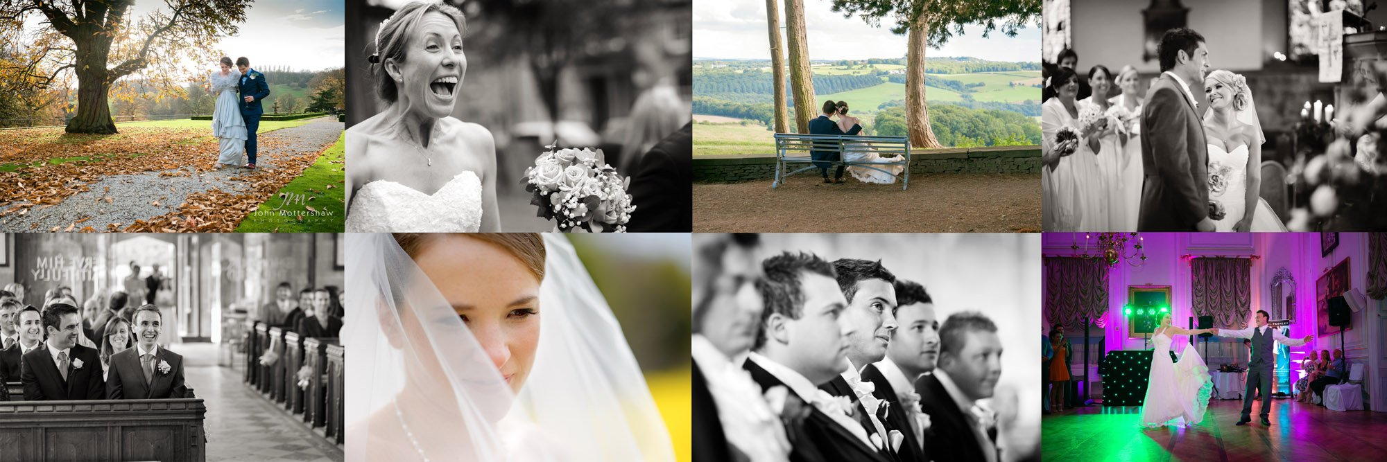 Wedding photography in Sheffield, including Hassop Hall, Losehill House and other Sheffield venues