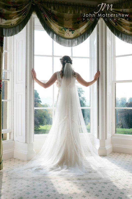 Bride at Hassop Hall, Derbyshire