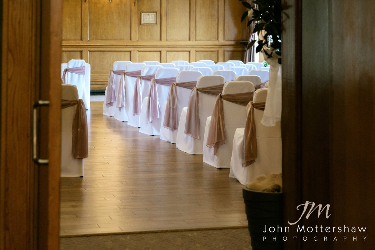 The Ballroom at the Maynard, ready for the wedding