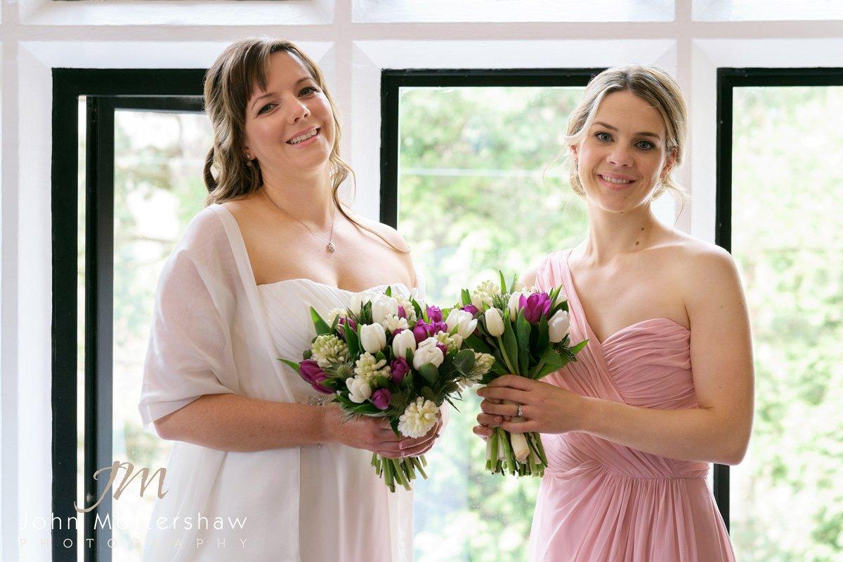 Bride and bridesmaid at the Maynard near Sheffield