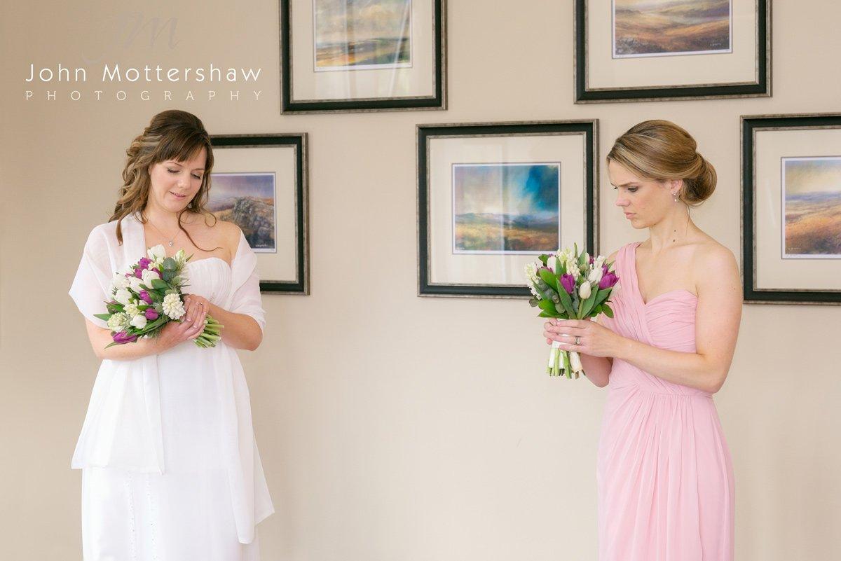 Bride and bridesmaid, wedding photography at the Maynard near Sheffield