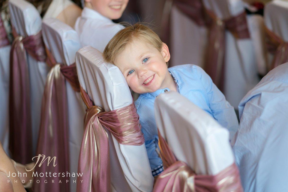 child having fun at a Maynard wedding near Sheffield