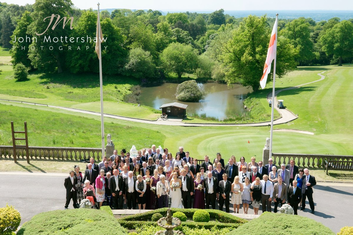 Group photograph in front of Shrigley Hall's golf course