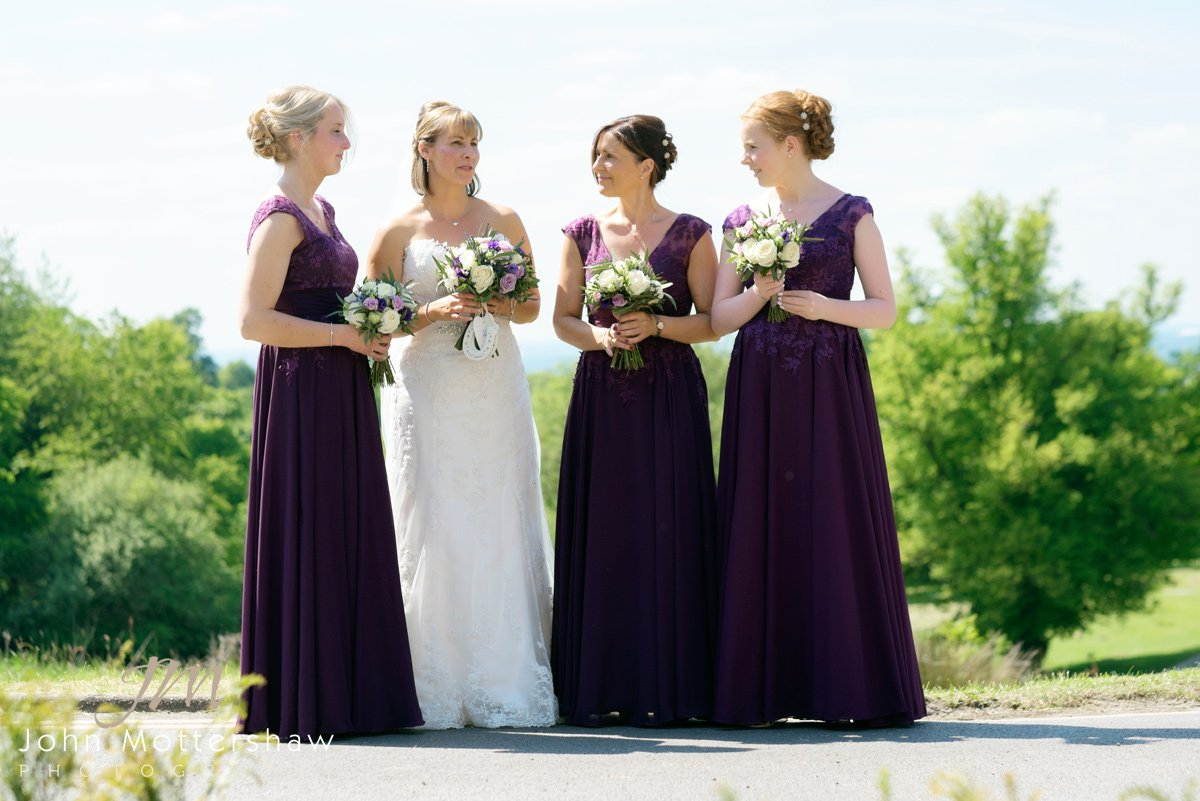 bride and bridesmaids at Shrigley Hall