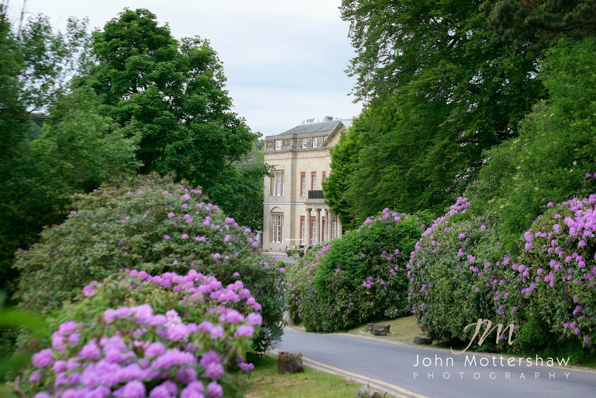 Shrigley Hall in Cheshire in spring