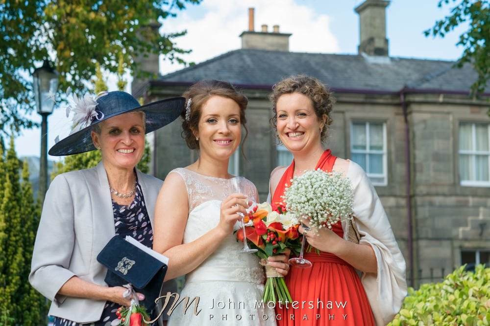 Informal wedding portraits at an Old Hall Buxton wedding