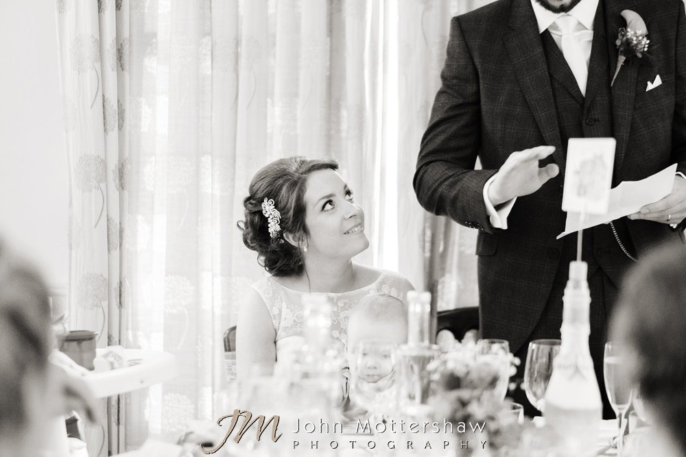Bride during speeches