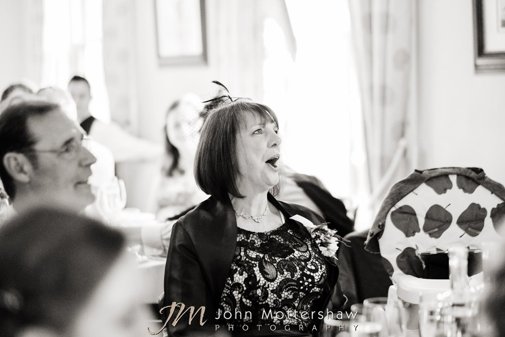 Informal wedding photos of guests