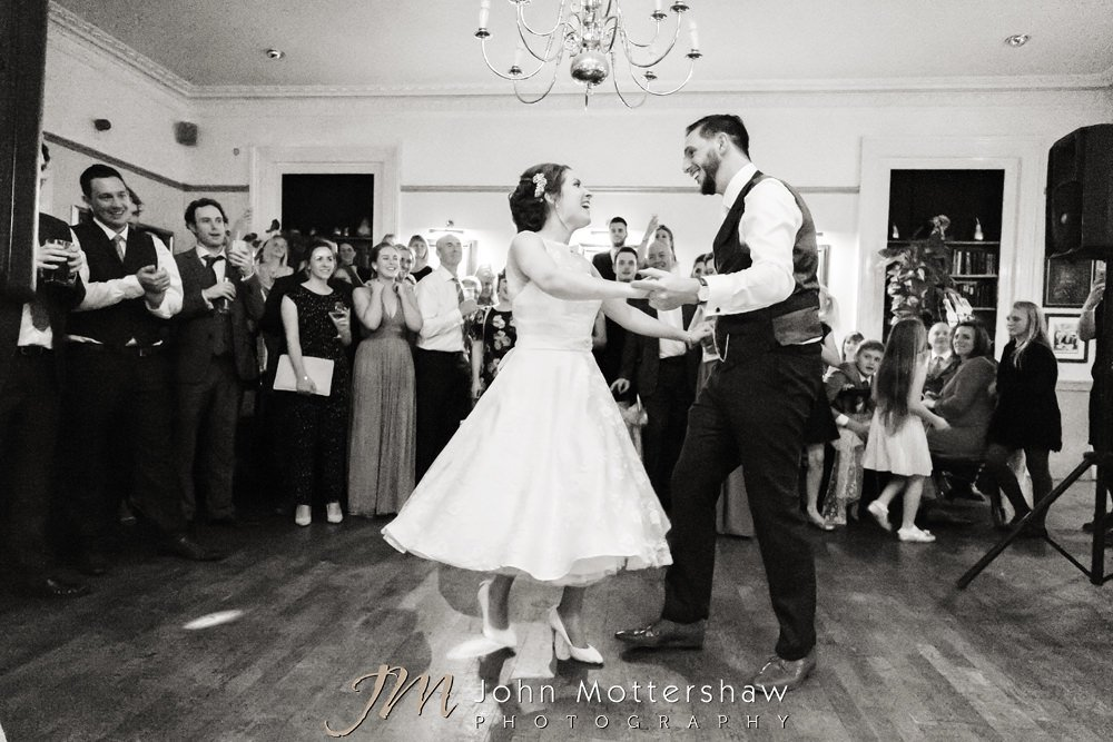 Buxton Old Hall wedding dancing - bride and groom first dance