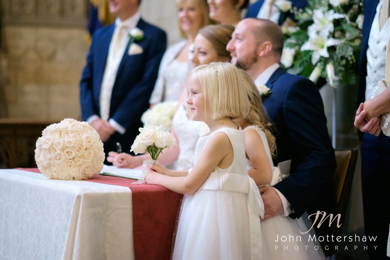 Flowergirl at signing the register
