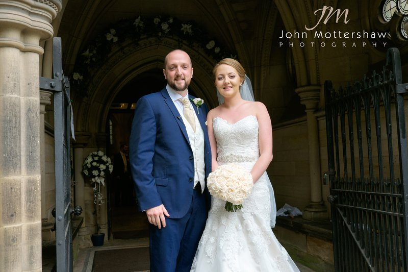 Bride and groom at Sheffield church wedding