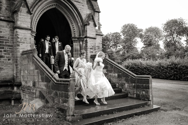Black and white wedding photography in Sheffield