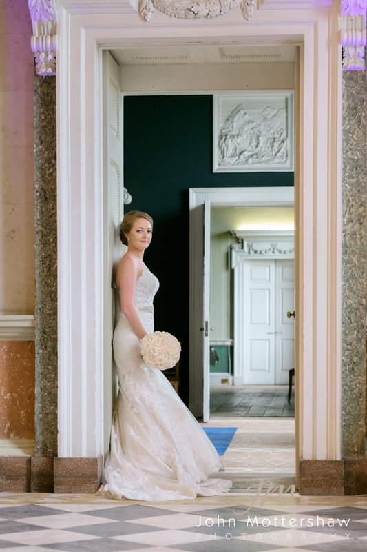 Bridal portrait at Wentworth Woodhouse
