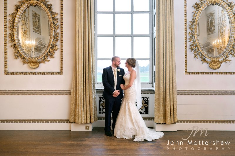 Bride and groom at Wentworth Woodhouse wedding