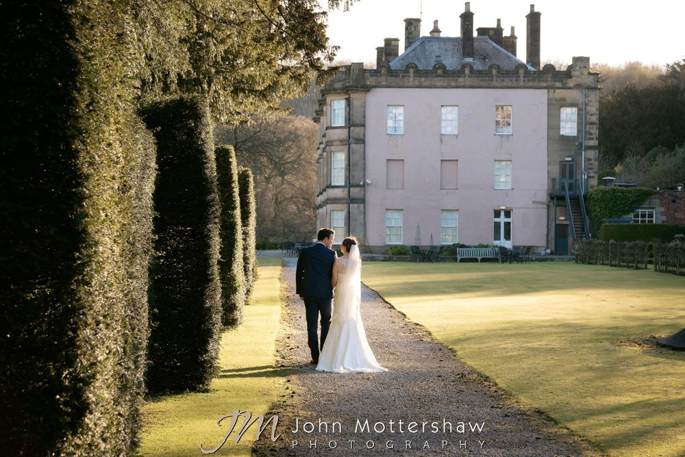 Hassop Hall wedding photography by John Mottershaw Photography