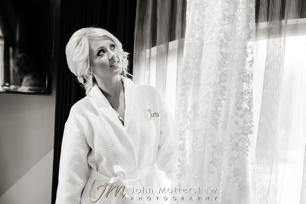 Black and white wedding photography in Chesterfield