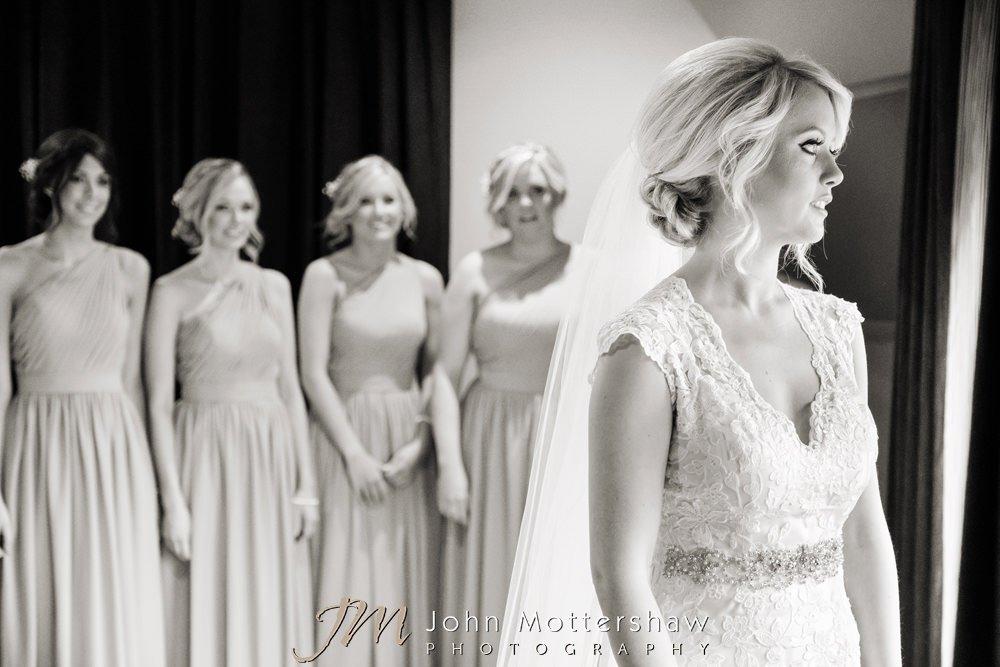 Peak Edge Hotel bride and bridesmaids