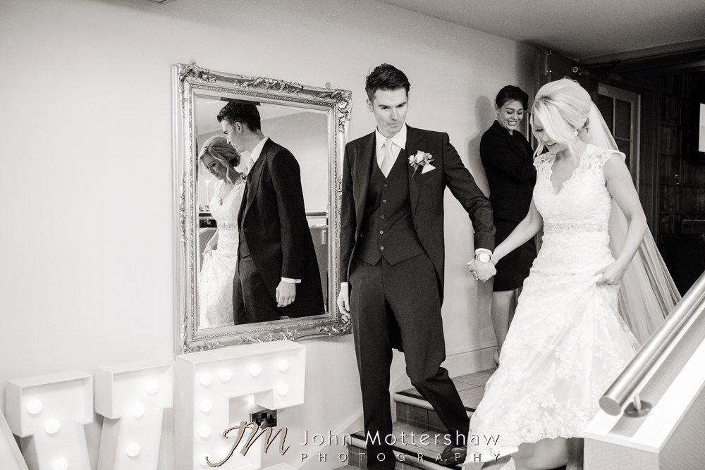 Bride and groom at Peak Edge Hotel wedding