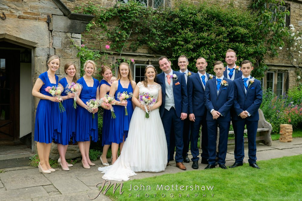 Group photos at Woodthorpe Hall wedding