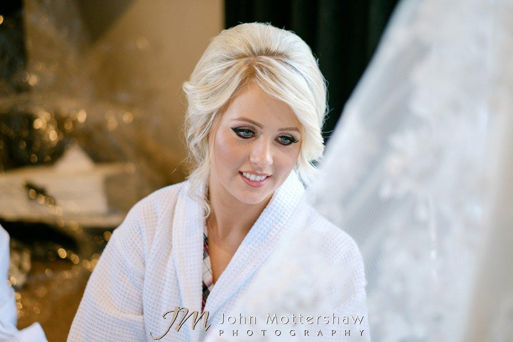 Beautiful bride at Sheffield wedding by John Mottershaw Photography