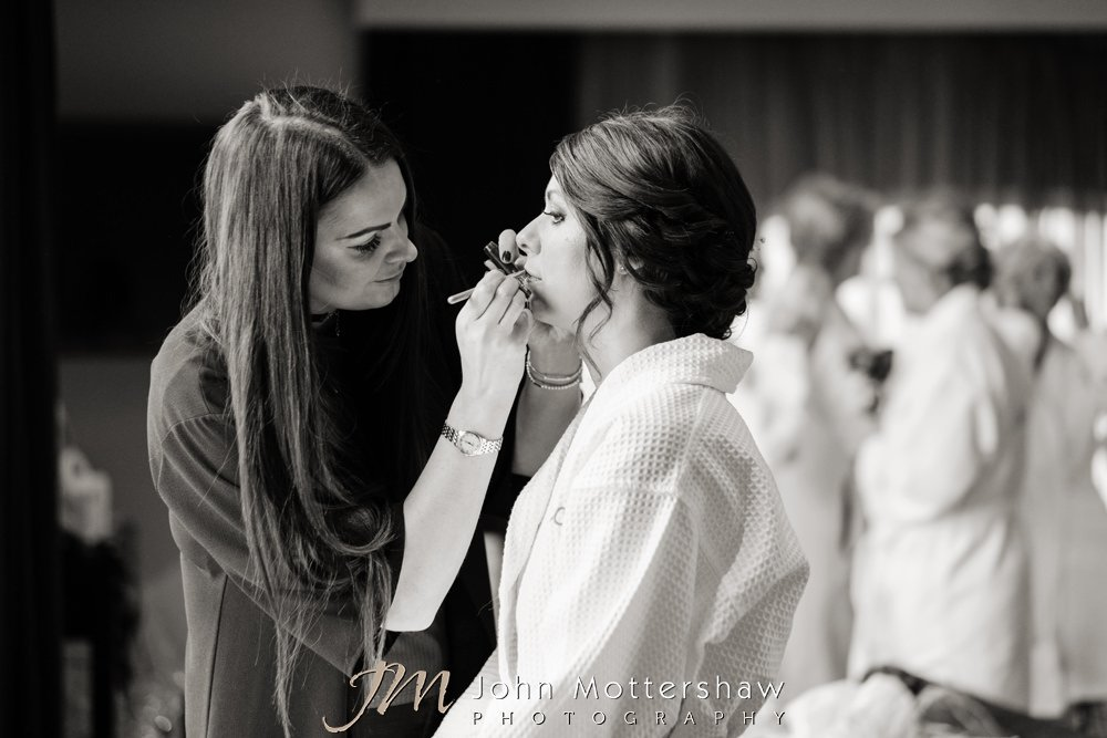 Bridal preparations before wedding