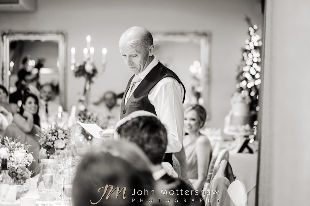 Father of the bride speech at Christmas wedding