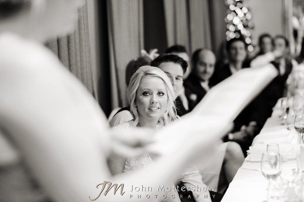 Evening wedding speeches