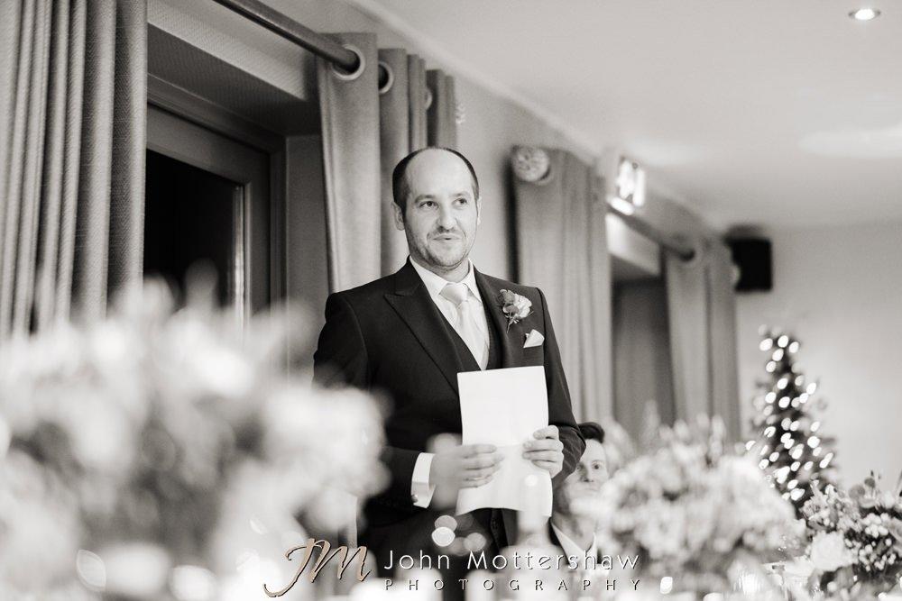 Wedding speeches at Christmas wedding