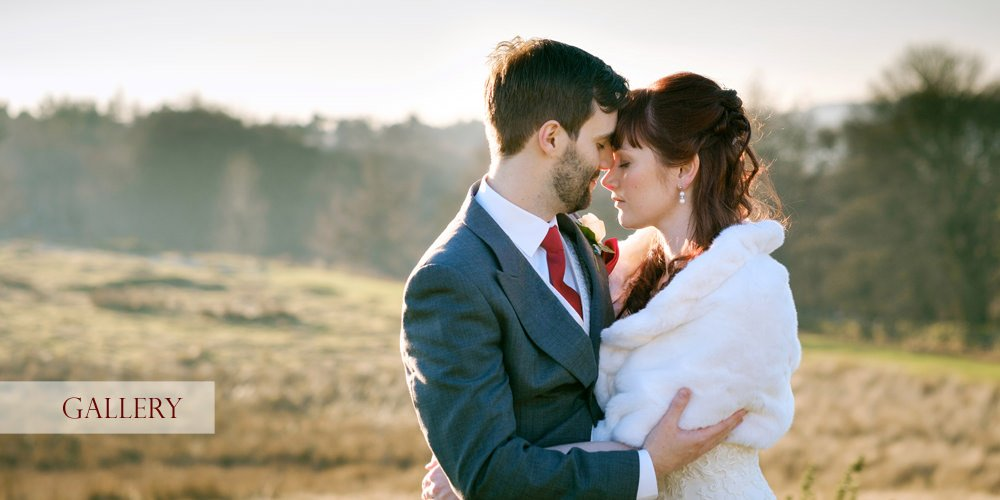 A wedding photograph of a romantic moment on the moors by Sheffield wedding photographer John Mottershaw. The bride and groom are spending a little time together before returning to their wedding at the Maynard.