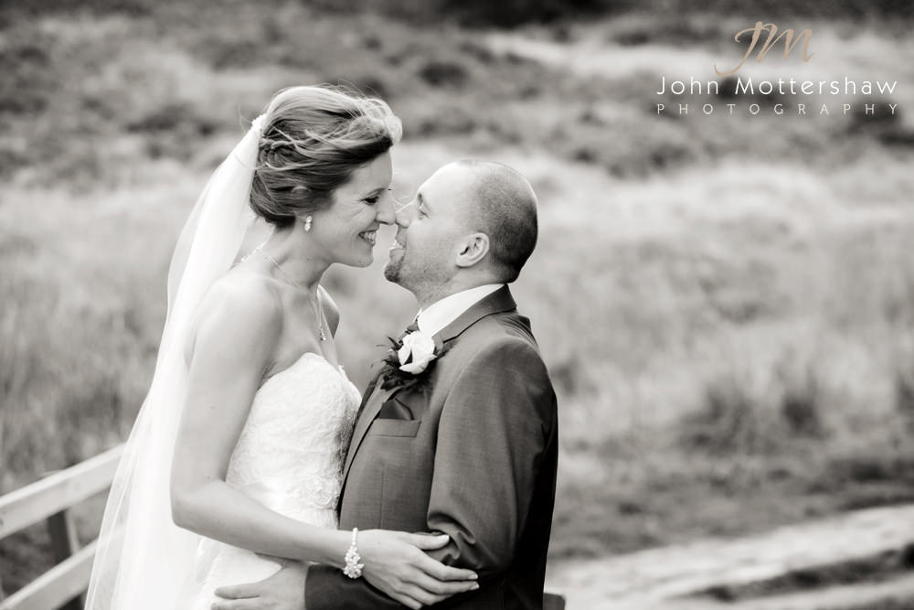Sheffield wedding photographer captures a happy and romantic wedding photograph after their wedding at the Maynard.