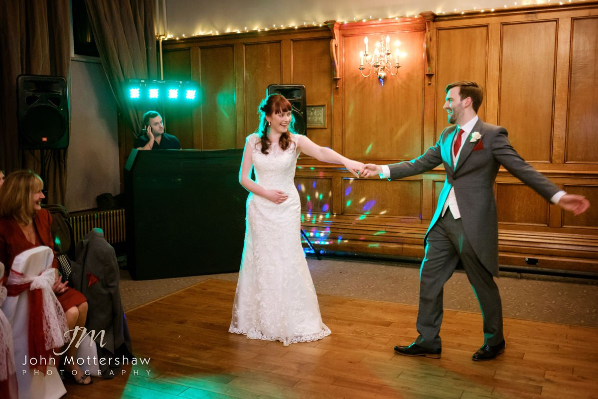 Photograph of the first dance at a wedding at The Maynard near Sheffield.