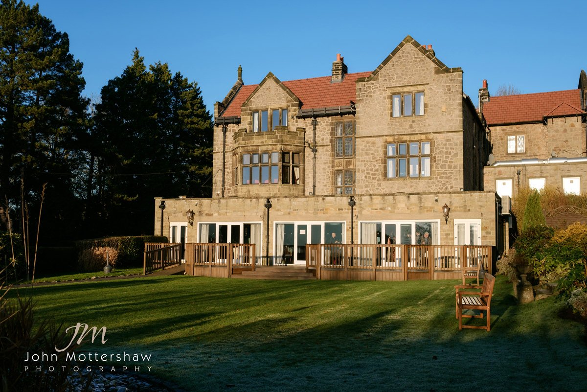 Exterior photograph of The Maynard in Grindleford near Sheffield, taken across the gardens.