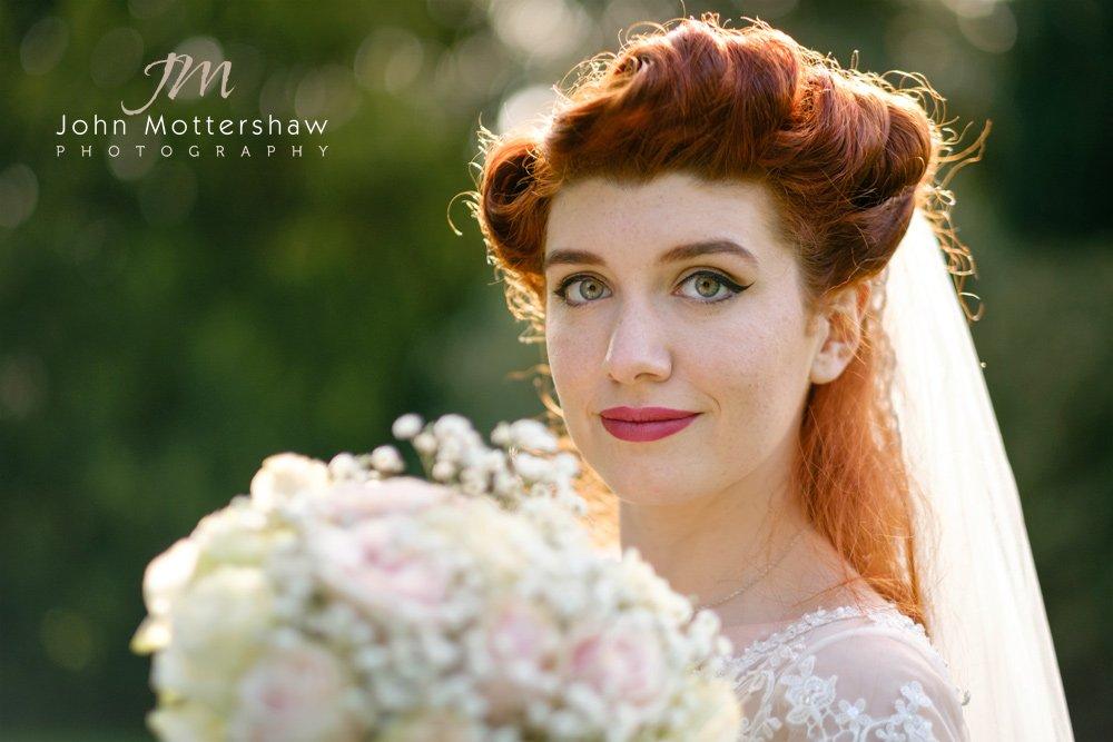 Bridal portrait by wedding photographer John Mottershaw.