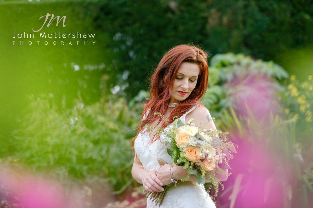 Bridal portrait by Sheffield wedding photographer John Mottershaw.