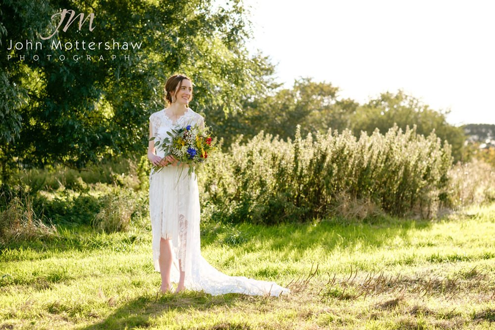 Lowfield Farm bride in the Peak District