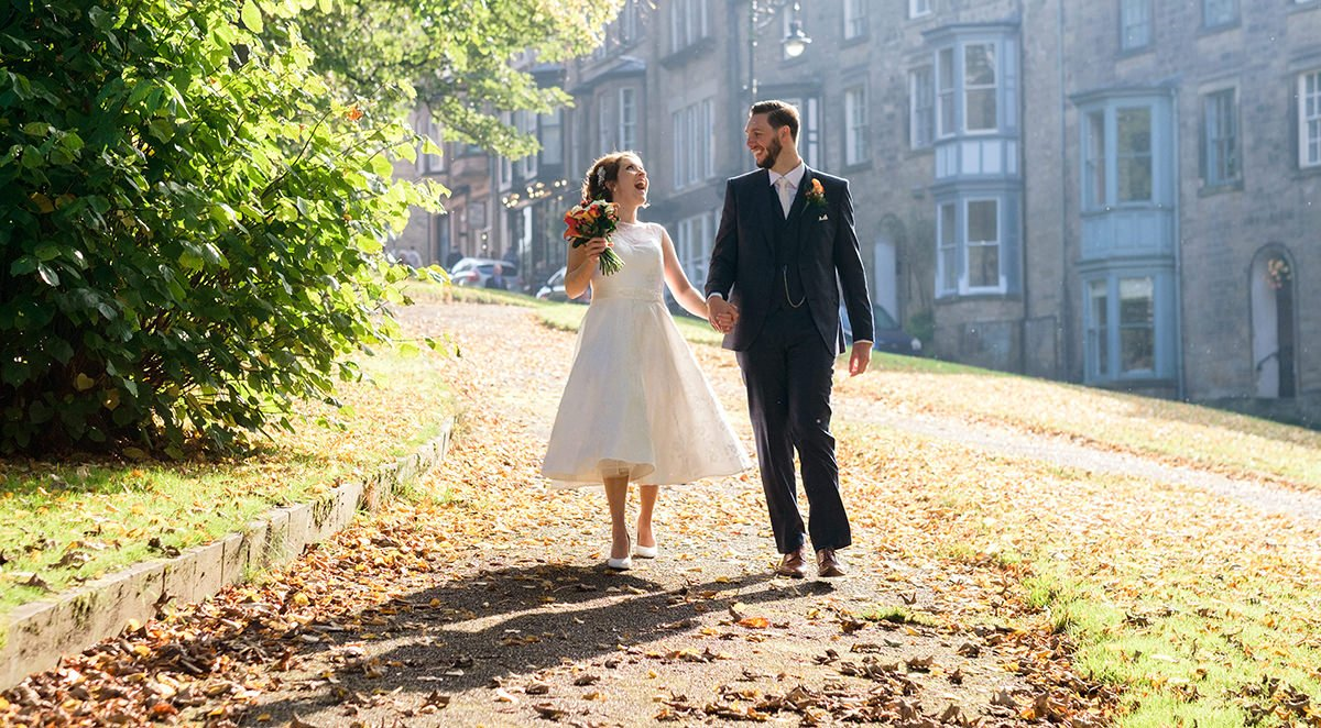 Wedding photography at St Anne's Church and Old Hall Hotel, Buxton, Derbyshire.