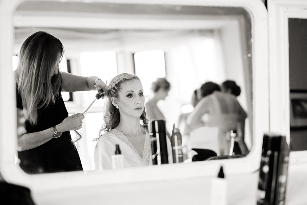 bride getting ready at the Maynard, near Sheffield