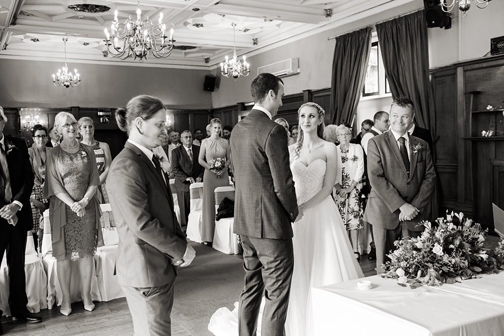 wedding photograph of a ceremony at the Maynard, near Sheffield