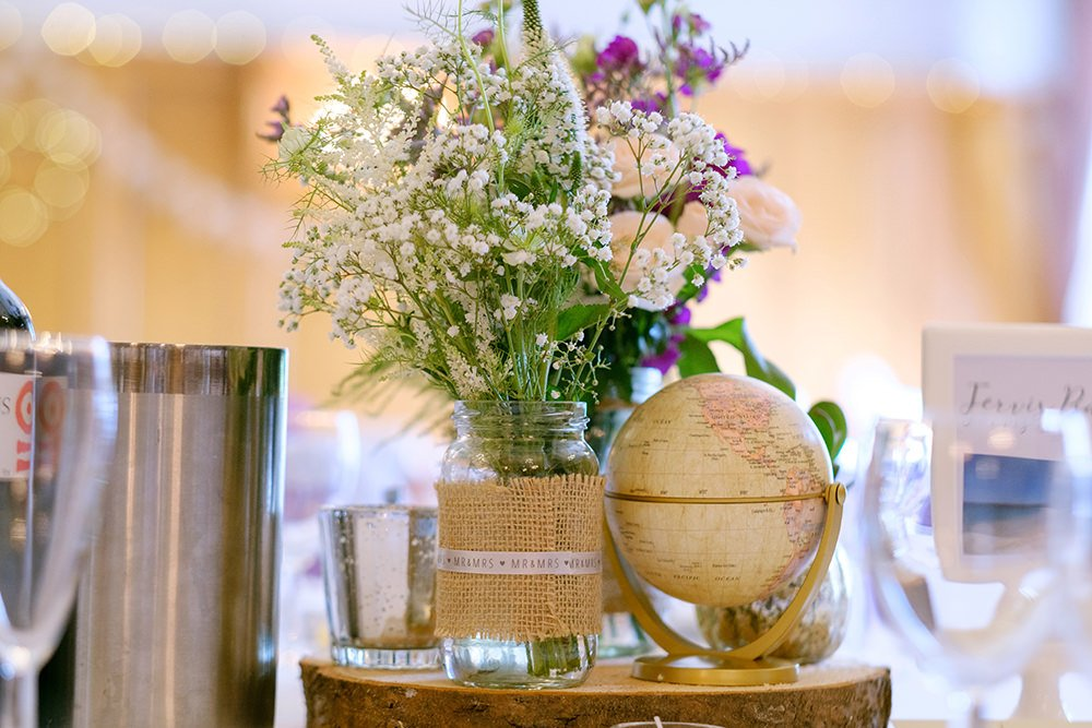 wedding photograph of table details at the Maynard, near Sheffield