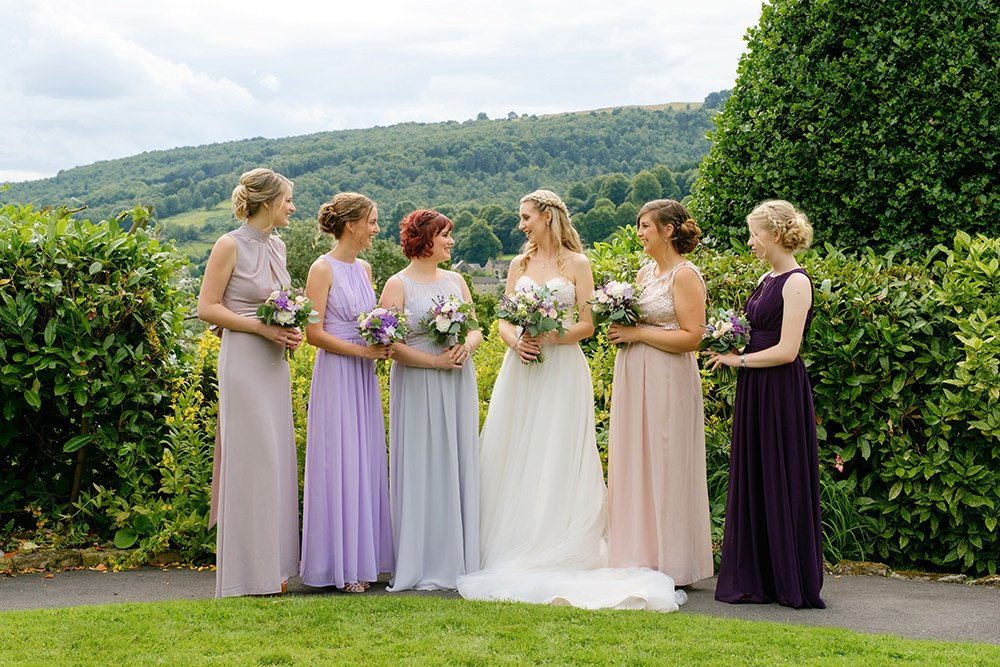 Bridesmaids at the Maynard in the Peak District