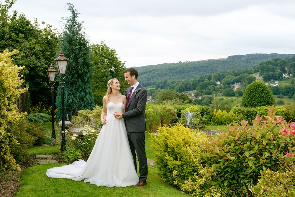 Bride and groom at the Maynard, near Sheffield