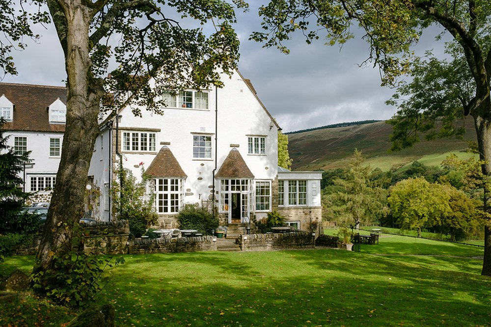 Losehill House Hotel set in breathtaking Derbyshire Peak District countryside, shot in the Autumn sunshine.