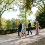 Sheffield wedding photographer sees guests arriving at Losehill House