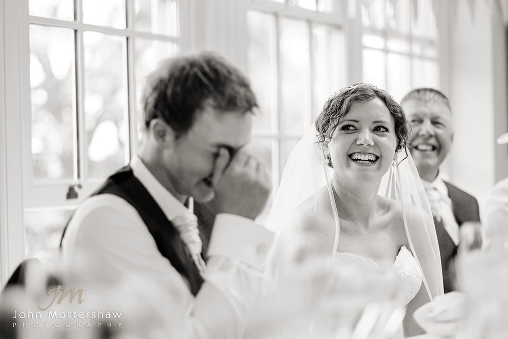 black and white wedding photography by Sheffield wedding photographer John Mottershaw.