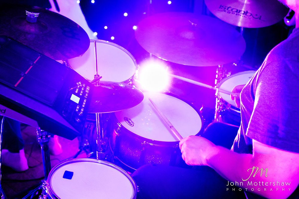 drummer at the first dance at a wedding