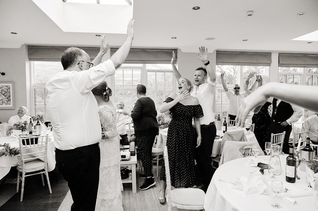Dancing at Losehill House. Black and white reportage